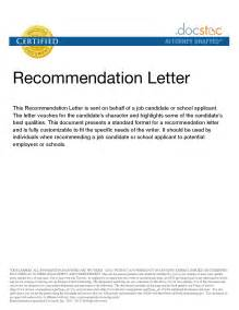 Recommendation Letter On Behalf Of Recommendation Letter On Behalf Of Images Letter Sles Format