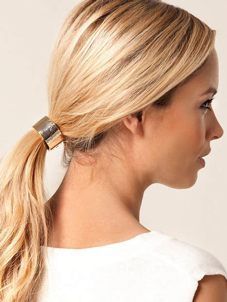halo pony tail halo ponytail nly trend gold jewellery accessories