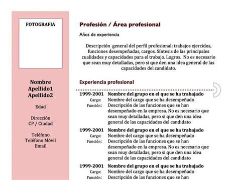 Plantillas De Curriculum Cronologico En Word 100 modelos y plantillas de curr 237 culum vitae para