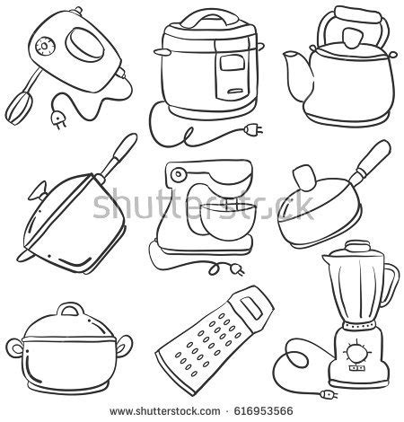 coloring pages of kitchen things kitchen stuff coloring pages sketch coloring page