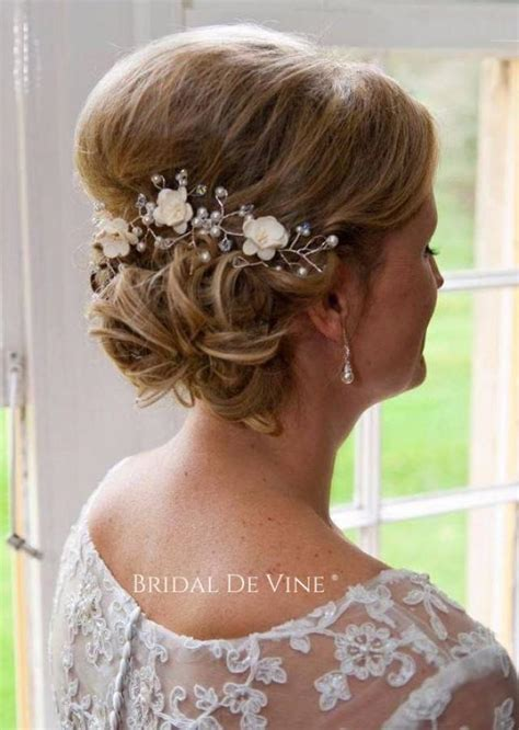 Wedding Hair Up In A Bun by Mulberry Flower Hair Vine Hair Up Bun Bridal Hair