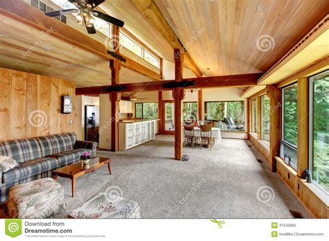 All American Homes Floor Plans by Log Cabin House Interior Stock Photo Image Of Area