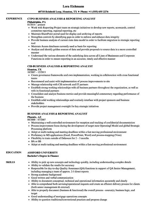 Cover Letter For A Reporting Analyst by Reporting Analyst Resume Resume Ideas