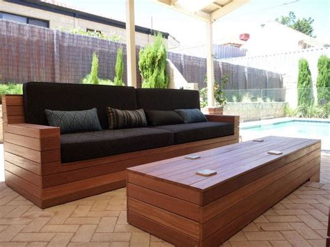 wooden outdoor couch 1000 ideas about homemade outdoor furniture on pinterest