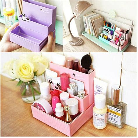 Rak Kayu Kosmetik Big Size Cosmetic Storage Stationary Murah 1 pc paper make up board folding storage box desk decor