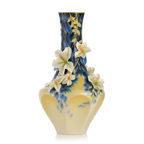 franz collection porcelain hong kong orchid tree vase
