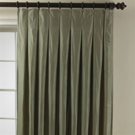 inverted pleat curtains taffeta inverted pleat panel traditional curtains by