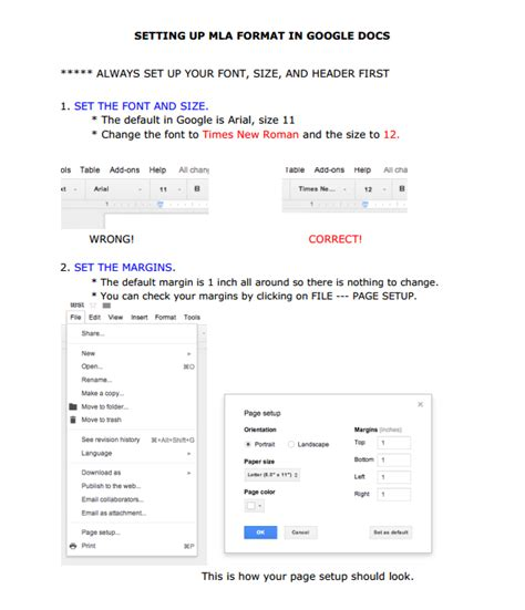 mla format in google docs the mount carmel academy library