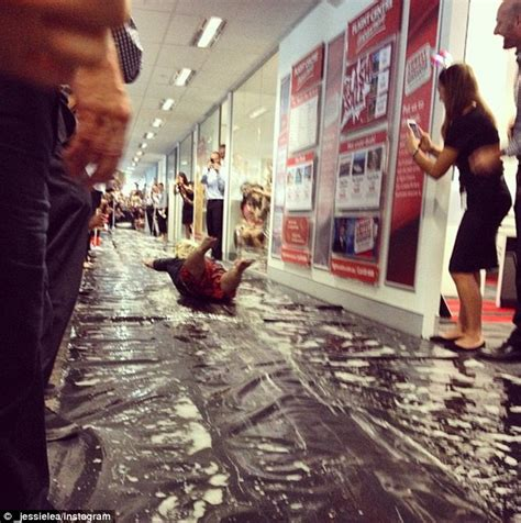 colleagues in brisbane create slip n slide in their