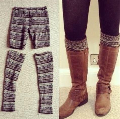 turn into legwarmers boot socks diy