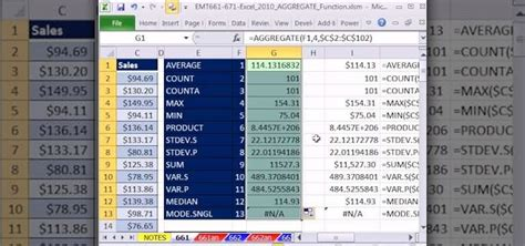 tutorial excel subtotal how to use aggregate instead of subtotal in ms excel 2010