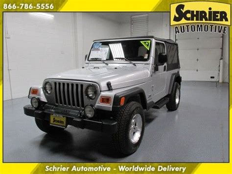 2006 Jeep Unlimited Soft Top Buy Used 2006 Jeep Wrangler Unlimited Lwb Silver Soft Top