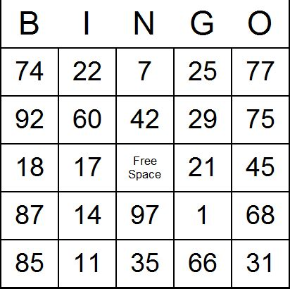free printable number bingo cards 6 best images of classic bingo cards printable free