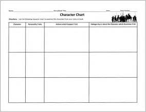 character chart template free graphic organizers for teaching literature and reading
