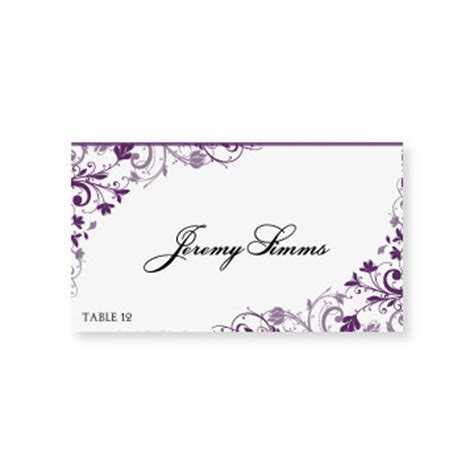 place card template for word instant wedding place card by diyweddingtemplates