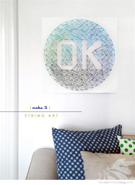 String Ideas - 40 insanely creative string projects diy projects