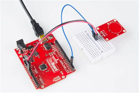 arduino qt tutorial at42qt101x capacitive touch breakout hookup guide learn