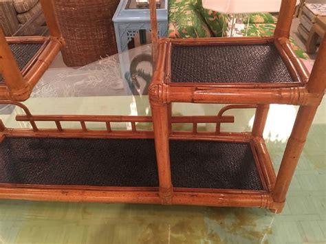 pagoda rattan bamboo wall or floor shelf shelves etagere
