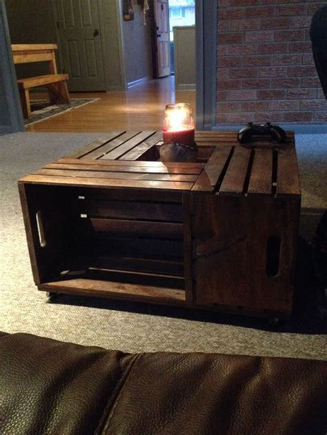 Coffee Table Made From Crates Vintage Coffee Table Made Of Crates Wood Bench Pinterest