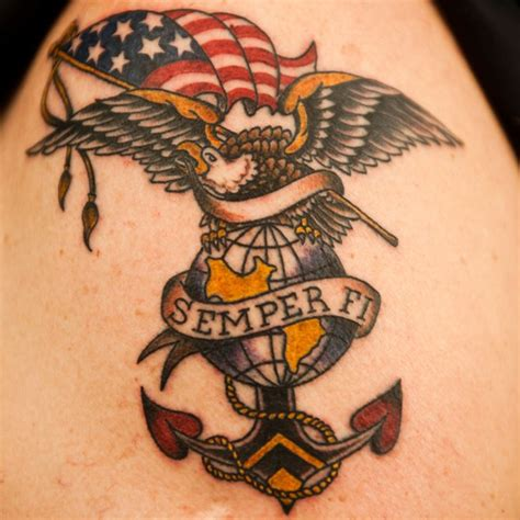 semper fi tattoos tat2x 174 supports veterans by donating to the semper fi fund