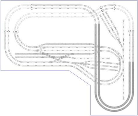 ho train layout design software model train layouts track plans in ho scale various