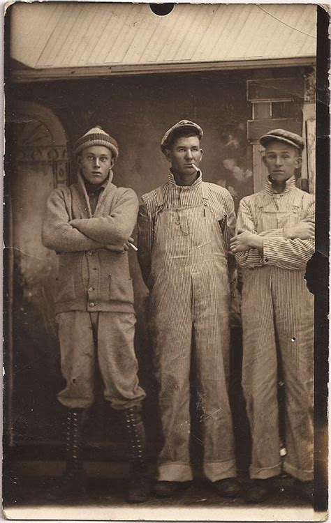 this picture represents the mens work wear of the 1920s