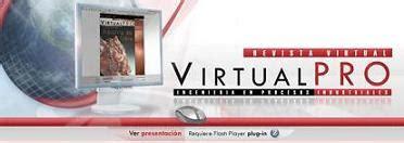 revista virtualpro login revista virtual virtual pro ingenier 237 a de procesos