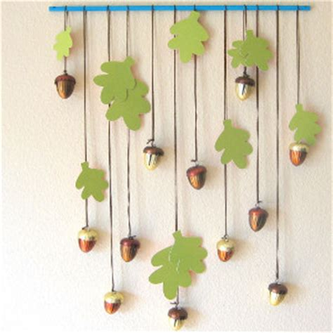 Hanging Paper Craft - leafy greens wall hanging allfreepapercrafts