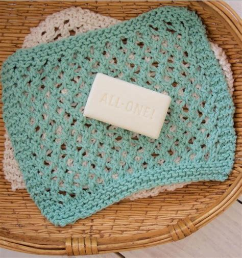 knitted washcloth patterns seafoam knit washcloth pattern allfreeknitting