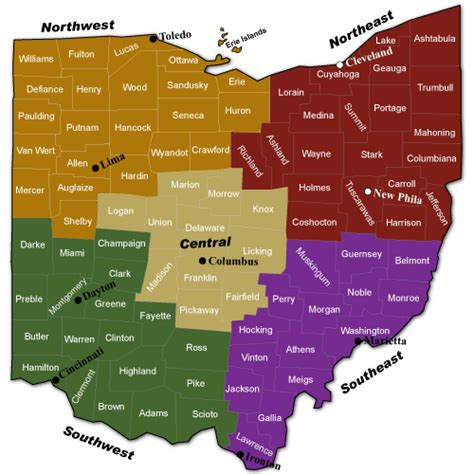 Find In Ohio Ohiowines Net Find Ohio Winery By County