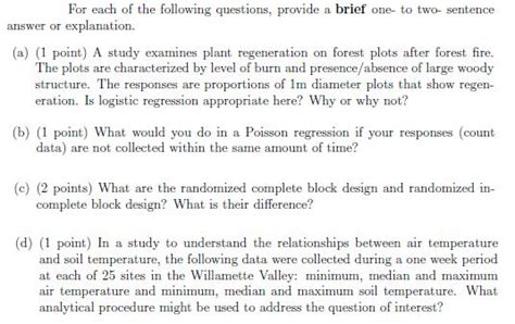 design brief sentence for each of the following questions provide a bri