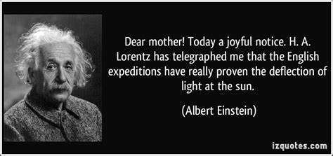 biography albert einstein english dear mother today a joyful notice h a lorentz has