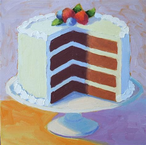 cake painting chocolate layer cake by pat doherty