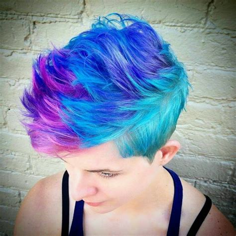 short colorful hairstyles 265 best short hair vivid color images on pinterest