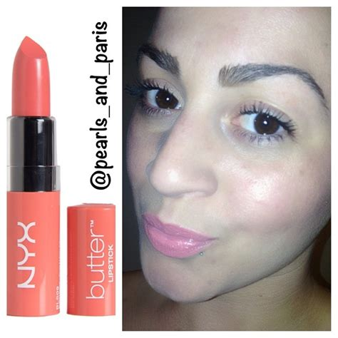Nyx Butter Lipstick Buttons Bls09 nyx cosmetics butter lipstick pearls and