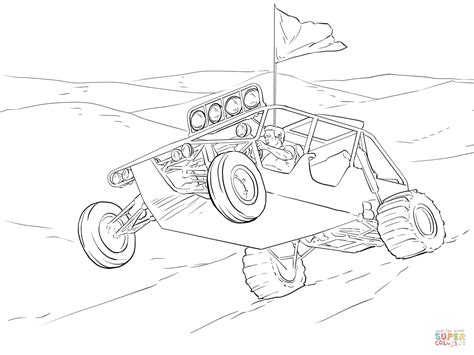 dune buggy free coloring pages