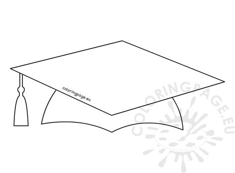 graduation hat template printable school graduation cap pattern coloring page