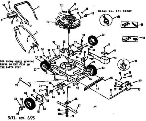 deere self propelled lawn mowers diagram engine