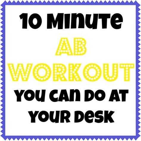 10 minute workouts you can do at your desk peanut butter
