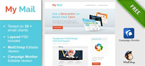 40 cool email newsletter templates for free