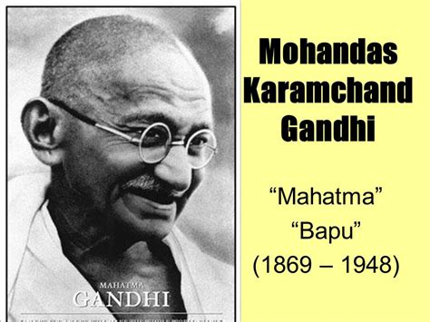 biography of gandhi bapu mohandas karamchand gandhi ppt video online download