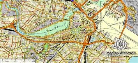 map boston usa boston vector map 25 part atlas editable city