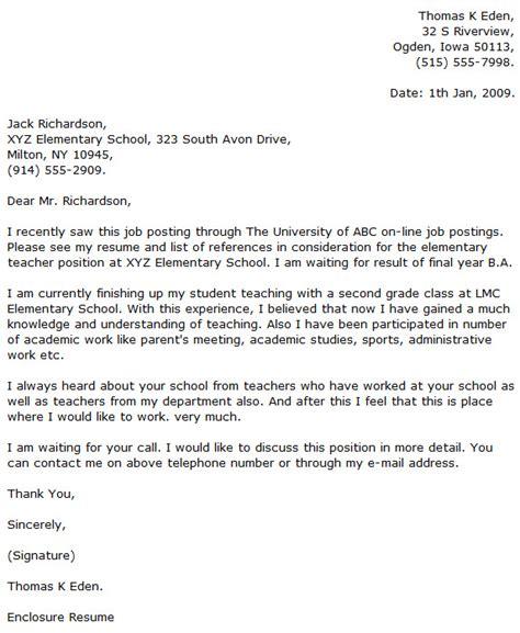 Elementary Teacher Cover Letter Examples   Cover Letter Now