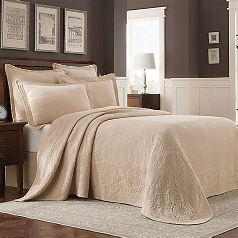 bed bath and beyond williamsburg buy williamsburg abby full bedspread in linen from bed