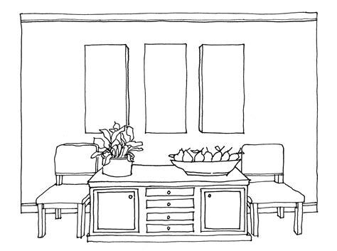 Sketch Of Dining Room by How To Draw A Dining Room Table Alliancemv