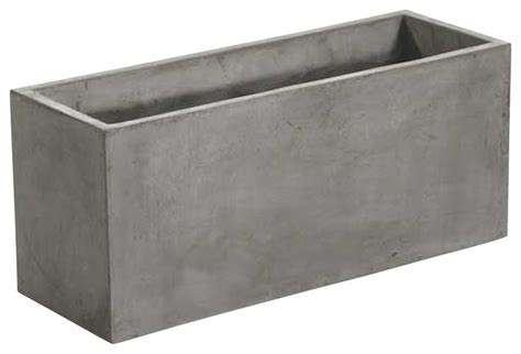 Cement Planter Boxes For Sale by Newport Rectangular Concrete Planters Sold As Set Of Two
