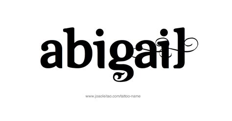 abigail tattoo design abigail name designs
