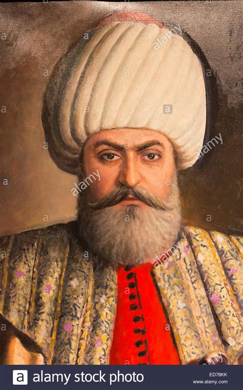 Leaders Of The Ottoman Empire Portrait Painting Sultan Osman Bey Osman I Or Osman Gazi Leader Stock Photo Royalty Free