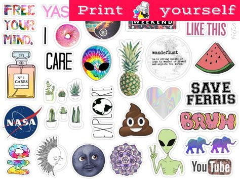 set  mockup printable tumblr stickers stickers set