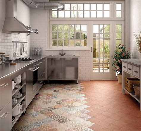 tiled kitchen floors 25 creative patchwork tile ideas of color and pattern